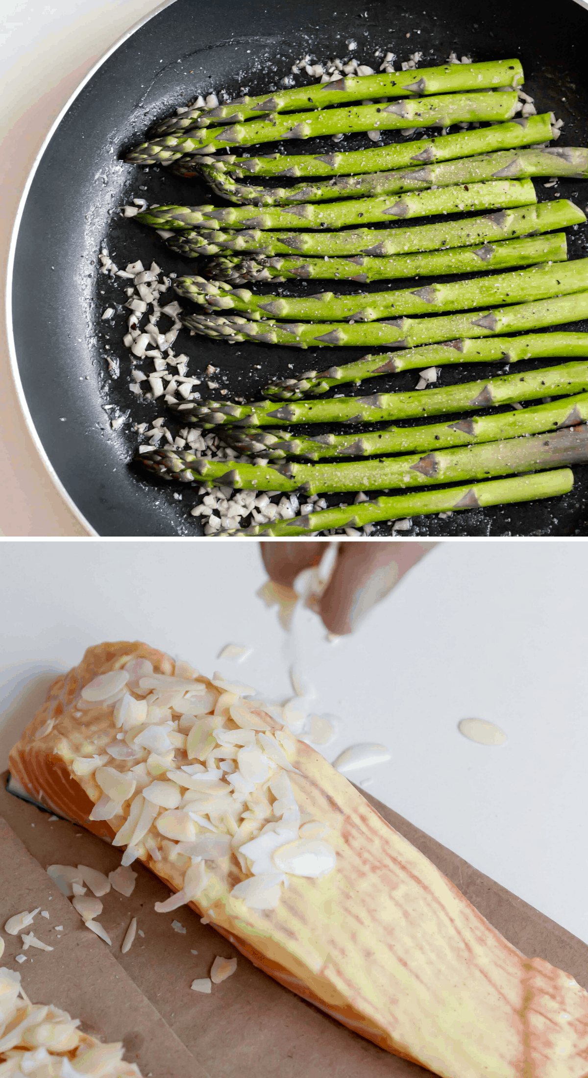Keto salmon and asparagus instructions