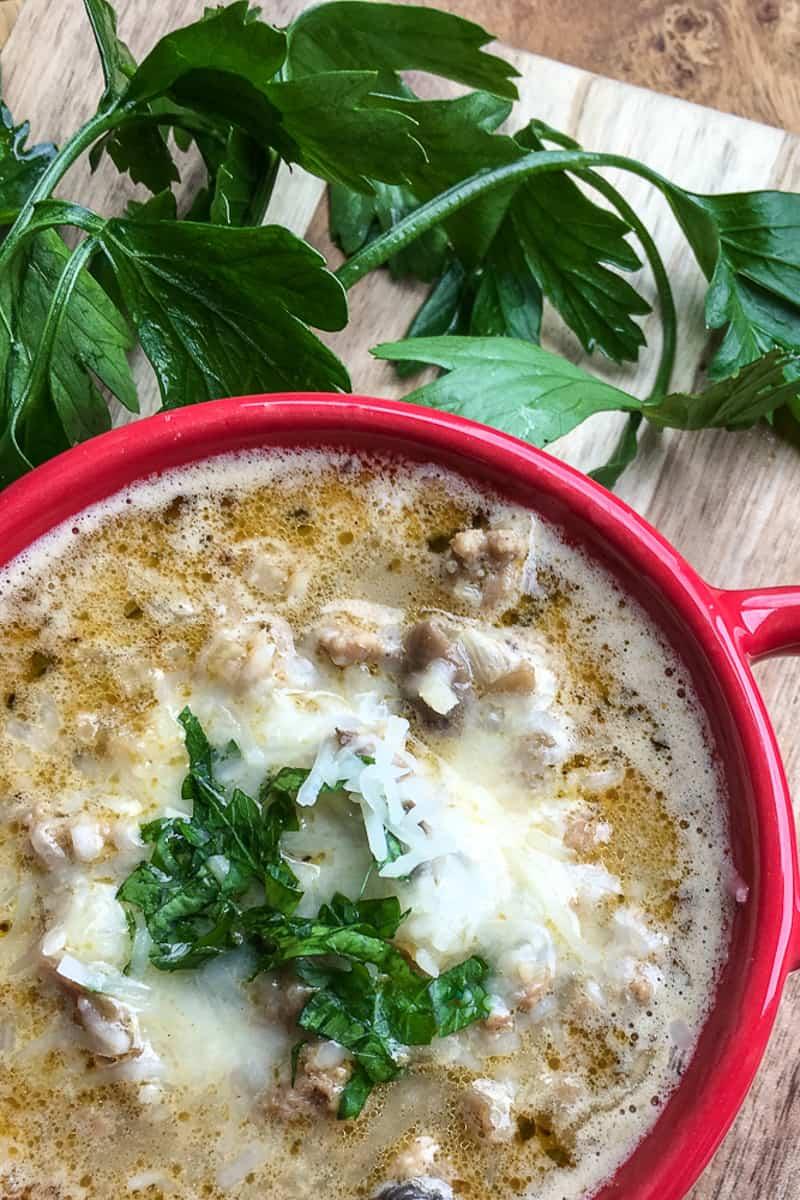 turkey mushroom keto soup